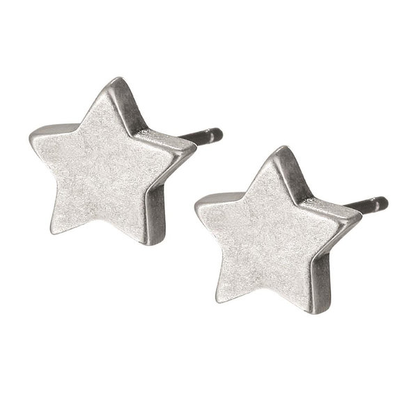 Sence Ohrringe Essentials Star worn silver