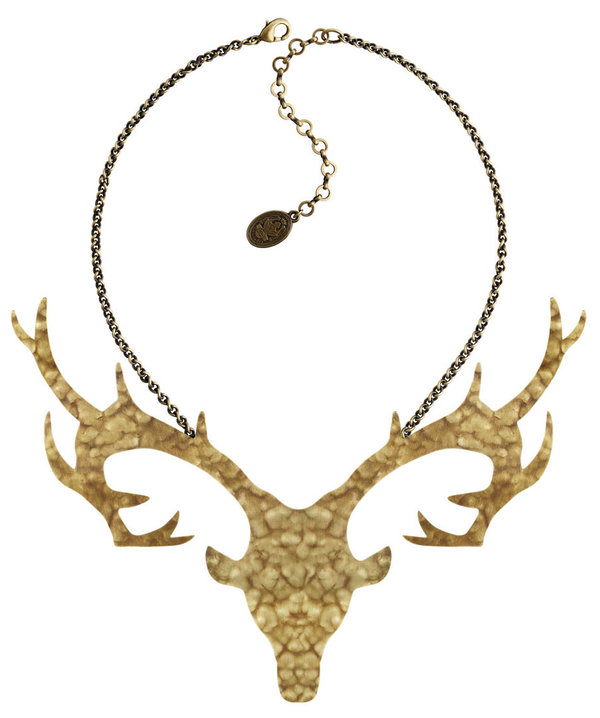 Konplott Halskette The Deer XL brass