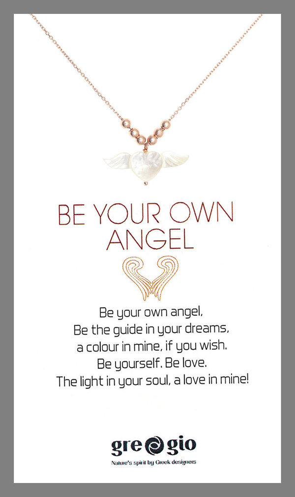 Gregio Halskette BE YOUR OWN ANGEL rosegold