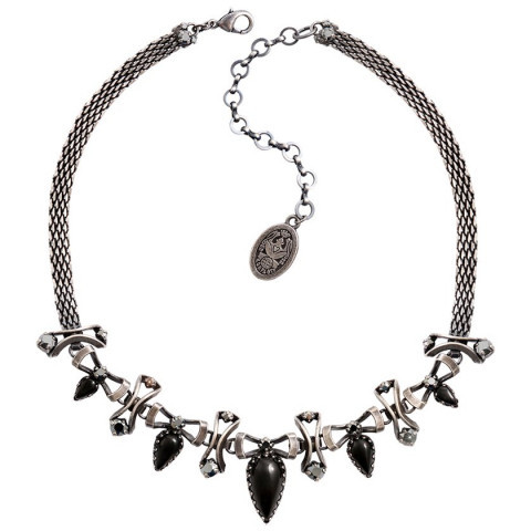 Konplott Halskette/Collier Dracula antique silver black