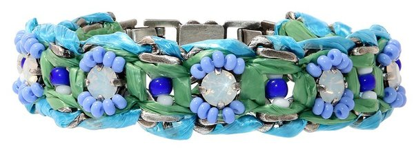 Konplott Armband Dream Catcher  silber green/white/blue