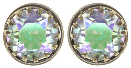 Konplott Ohrringe Boho Twist brass green/lila crystal paradise shine