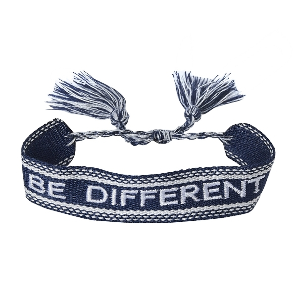 Webarmband BE DIFFERENT navy white