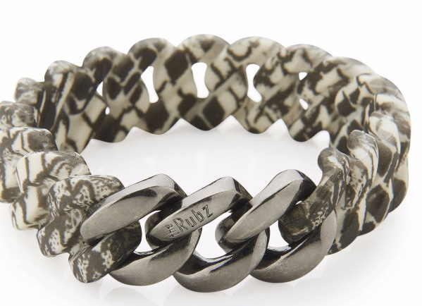 The Rubz Armband Classic Mini 15mm snake & antique silver