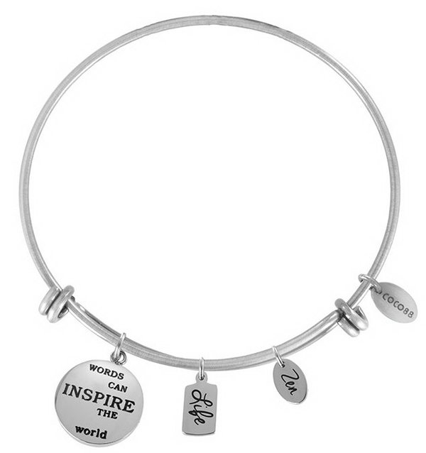 Coco88 Armband / Bangle Inspirational Zen & Life silber
