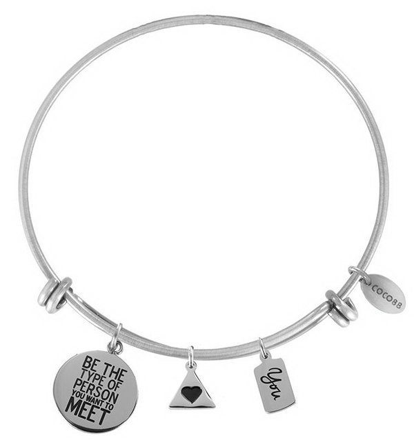 Coco88 Armband / Bangle Inspirational You & ♥ silber