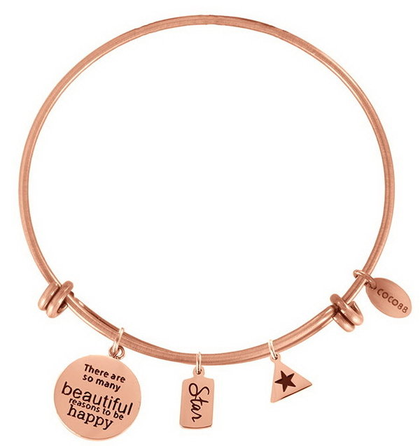 Coco88 Armband / Bangle Inspirational STAR rosegold