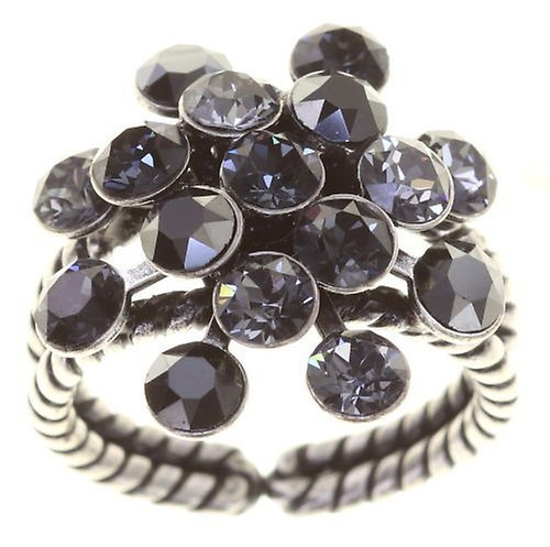 Konplott Fingerring Magic Fireball 21mm antique silver Black Star Black