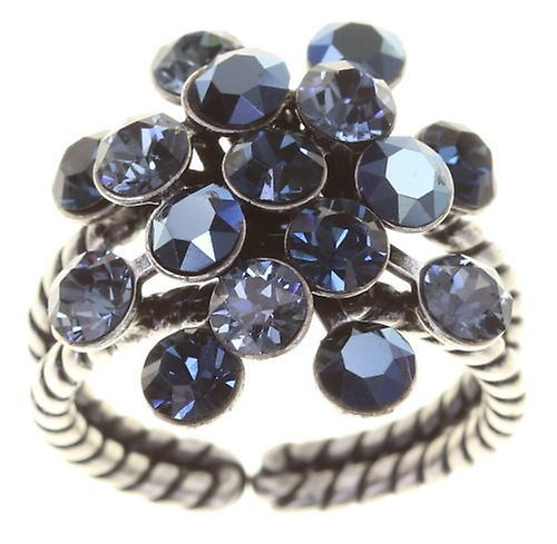 Konplott Fingerring Magic Fireball 21mm antique silver Magnetic Blues Blue