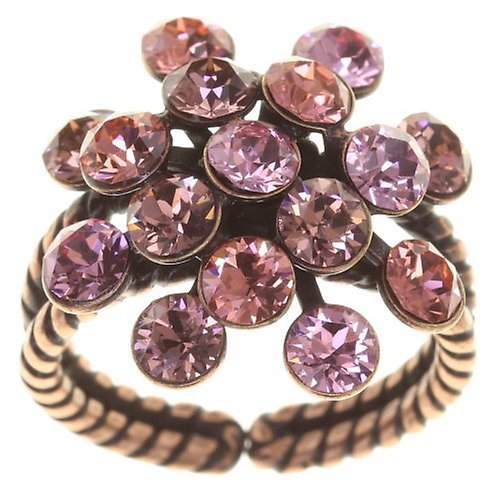 Konplott Fingerring Magic Fireball 21mm antique copper Rosy Rose Pink