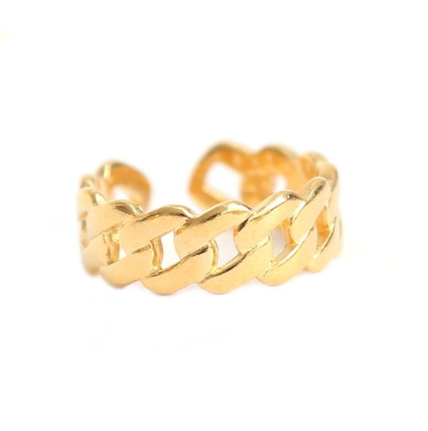 Love Ibiza Fingerring Chain gold
