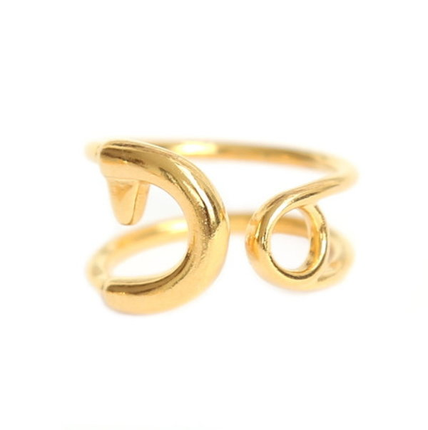 Love Ibiza Fingerring Safety Pin gold