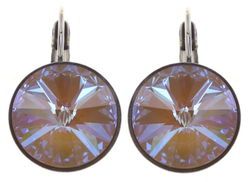 Konplott Ohrringe/Brisuren Rivoli 14mm silver yellow crystal ochre delite